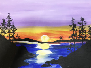 Paint Haven - Sunset Lake / Saturday, May 27th @ Art Haven