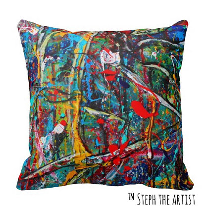 Polyester Throw Pillow / Abstract Love Letters
