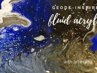 Fluid Acrylic Pouring - Geode Inspired | Wallack's Art Supplies