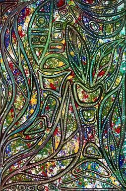 Spiritual Growth_ 2021 Steph Limage Freehand Acrylic on Canvas 1 1_2 feet x 2 feet