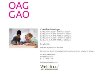Creative Sundays   Ottawa Art Gallery