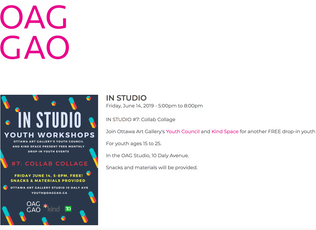 Join Ottawa Art Gallery's Youth Council and Kind Space for another FREE drop-in youth art worksh