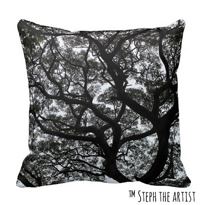 Polyester Throw Pillow / Ancient Haitian Trees