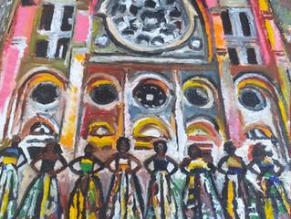 """New work titled - """"Sè Nan Pòtay Lavil La"""" / """"Sisters of the Gate""""."""