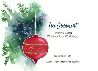 Tree Ornament Holiday Card Watercolour Workshop