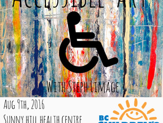 Children's Art Therapy - Accessible Art - With Steph Limage at BC Children's Hospital