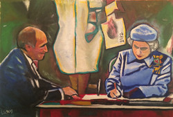 1982 The Canadian Charter of Rights and Freedoms Oil on Canvas
