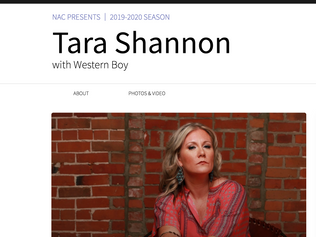 NAC Presents | Tara Shannon with Western boy | Nov 8th