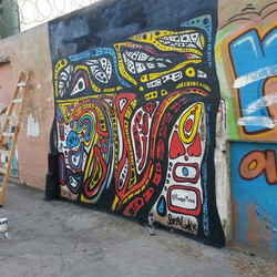 Freehand Mural, Argentina, 2017.