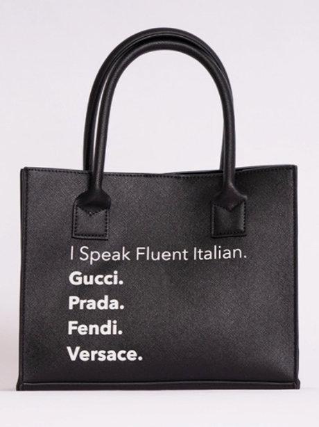 Fluent Italian tote bag