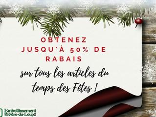 Le temps des Fêtes est arrivé chez Embellissement Rivière-du-Loup !