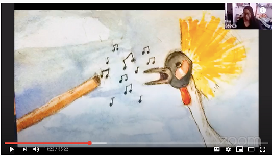 THE SONG OF 6 BIRDS with visual artist J