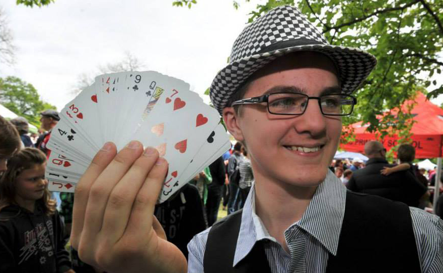 Busking Magic Tricks - 2014 Festival