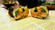 Orange Bamboo Tofu Sushi