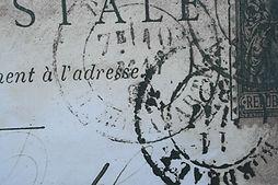 Carta-Marcado-con-sello de goma