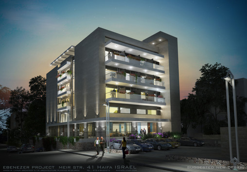 Simulation of the renovated building