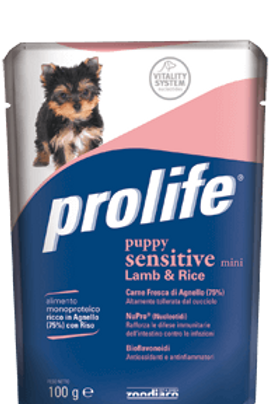 Alimento umido per cuccioli Prolife wet Puppy Sensitive 100g