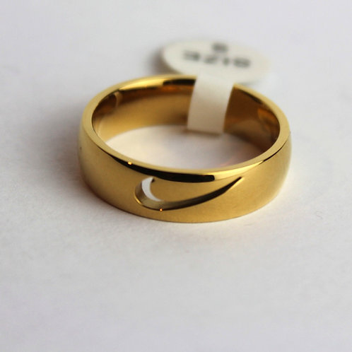 NIKE SWOOSH RING CUT OUT GOLD