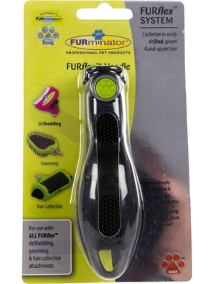 Manico FURMINATOR per l'abbinamento di tutti gli accessori / spazzole FURFLEX