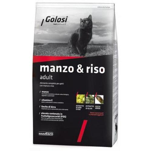 Crocchette MANZO E RISO per gatti 1.5 kg