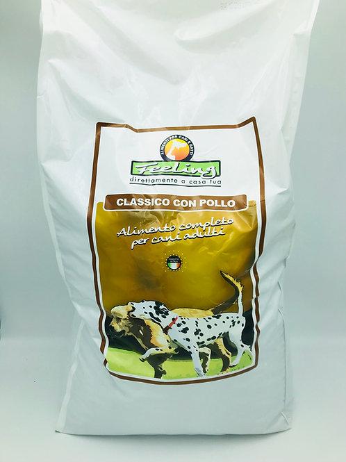 Crocchette classiche FEELING per cani adulti con POLLO e RISO sacco da 15 kg