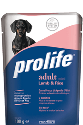 Alimento umido per cani PROLIFE WET ADULT MINI cf 100g