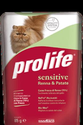  Prolife Cat Sensitive Umido monoproteico per gatti ipersensibili 85 g