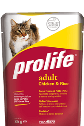 Alimento umido alta qualità per gatti ADULTI Prolife