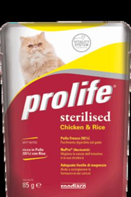Alimento completo umido monoproteico per gatti sterilizzati PROLIFE 85 g