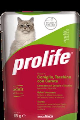 Alimento umido multigusto Prolife per gatti adulti 85 g