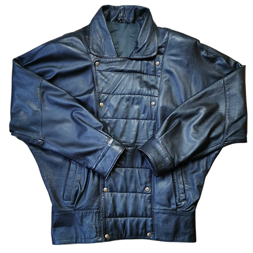 LEDERJACKE BLACK XL