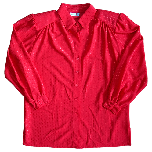 SHINY RED BLUSE L