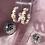 Thumbnail: Pink daisy hoops
