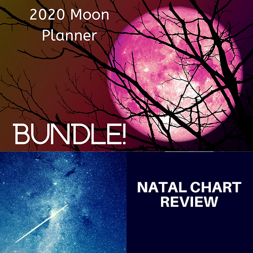 Natal Chart/2020 Moon Planner Bundle