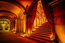 ALMA PROJECT 24_7 _ Palazzo Corsini - Ground Floor Stairs Lighting - Amber Upligts - 170708-16