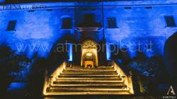 ALMA PROJECT _ Villa Medicea di Lilliano - Brilliant 170329 - Facade blue lighitng - Stairs Courtesy