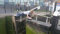 Zoe legging lock gates like a pro