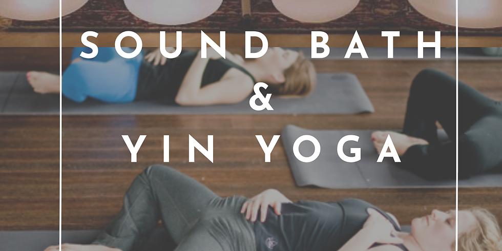 Sound bath and yin yoga