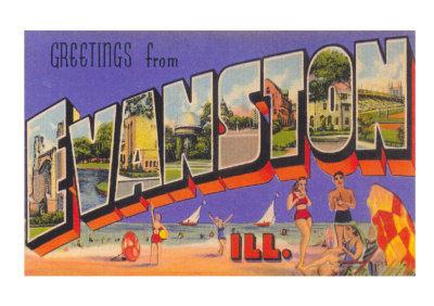 Evanston IL Postcard