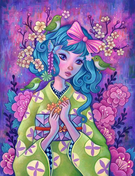 Plum Blossom Kimono