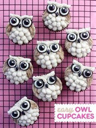 OWLS CUPCAKE DECOR- FRIDAY, OCT. 9; $25 + 10 SUPPLIES
