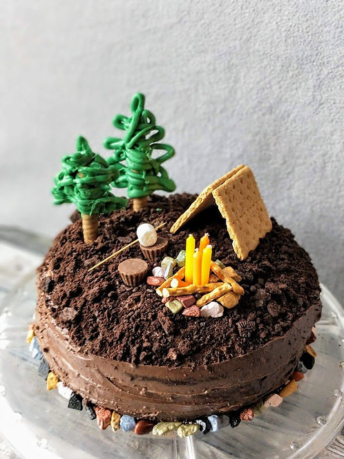 WHIMSICAL CAMPING CAKES : AUG. 11-13; $110+ 25 SUPPLIES