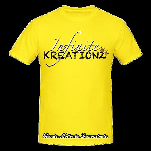 Elevate. Motivate. Demonstrate Infinite Kreationz Yellow Shirt