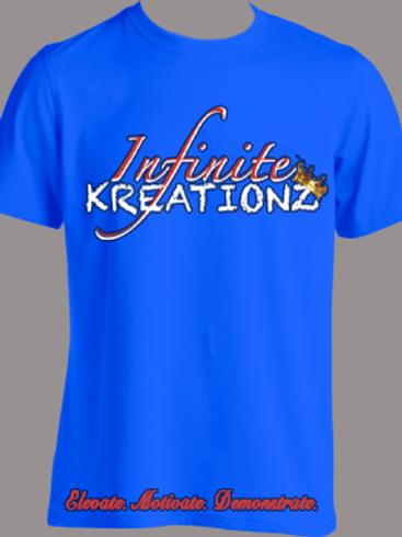 Elevate. Motivate. Demonstrate Infinite Kreationz Blue Shirt