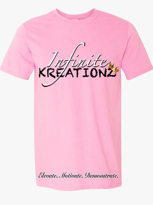 Elevate. Motivate. Demonstrate Infinite Kreationz Pink Shirt