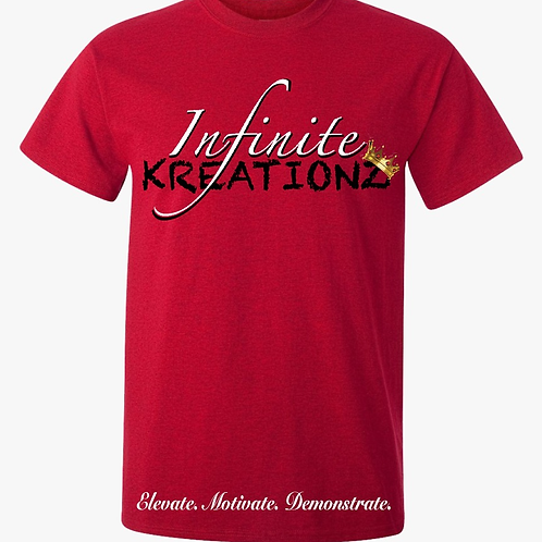 Elevate. Motivate. Demonstrate Infinite Kreationz Red Shirt