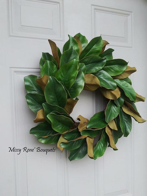 Magnolia Wreath, Modern Farmhouse Wreath, Year Round, Farmhouse Décor, All Seaso