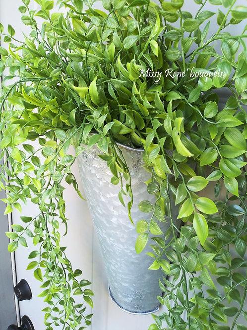 Greenery Tin Door Hanger  Similax Vine  Front Door Wreath  Farmhouse Wall Decor