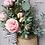 Thumbnail: English Blush Rose Basket Hanger, Front Door Décor, Summer Wreath, Spring Wreath