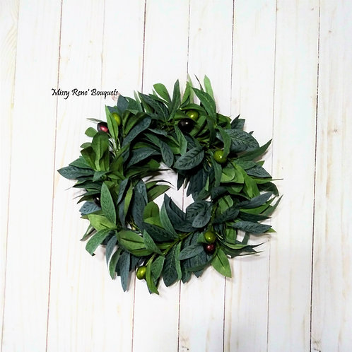 Olive Leaf Wreath, Olive Candle Wreath, Olive Greenery, Olive Wedding Wreath, Ol